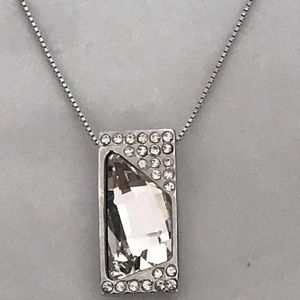 NEW Luminous White Crystal Pendant Necklace